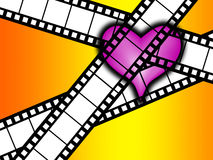 Kocham film Obrazy Royalty Free
