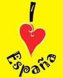 kocham Hiszpanii Obrazy Royalty Free