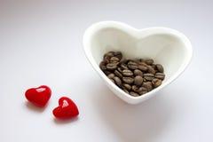 Kocham kawę - serca, adra, puchar Obraz Stock