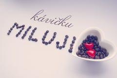 Kocham kawę w republika czech miluji - kava - Obraz Royalty Free