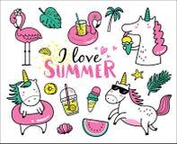 kocham lato royalty ilustracja