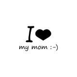 Kocham mój mamusi ikonę Fotografia Stock