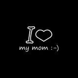 Kocham mój mamusi ikonę Zdjęcie Royalty Free