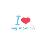 Kocham mój mamusi ikonę Obrazy Stock