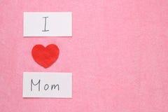 Kocham mój mamy pojęcie Zdjęcie Stock