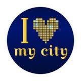 Kocham mój miasto wektoru EPS 10 ilustrację Ilustracji