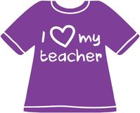 Kocham mój nauczyciel koszula Zdjęcie Stock
