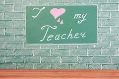 Kocham mój nauczyciela Zdjęcie Royalty Free