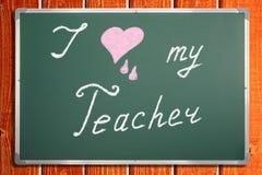 Kocham mój nauczyciela Fotografia Stock