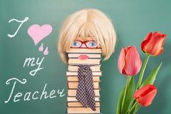 Kocham mój nauczyciela Zdjęcia Royalty Free