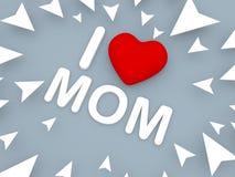 Kocham mamy, 3d pojęcie Zdjęcie Stock
