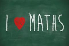 Kocham maths Zdjęcie Royalty Free