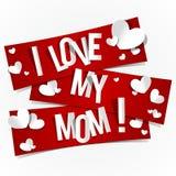 Kocham Mój mamy Fotografia Stock