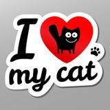 Kocham mogę kot Zdjęcia Royalty Free
