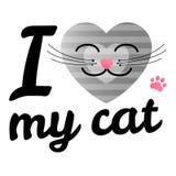 Kocham mogę kot Obraz Stock
