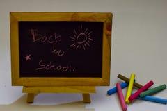 Kocham Piątek pisać na chalkboard Jesieni sezonowego mieszkania nieatutowa fotografia na Białym tle obrazy royalty free