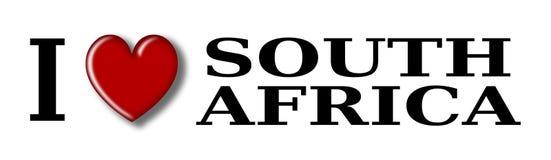 Kocham Południowa Afryka ilustracji