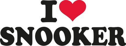 Kocham snooker Obrazy Stock
