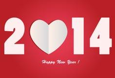 Kocham 2014 - Szczęśliwy nowy rok Zdjęcie Stock