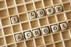 kocham szkołę fotografia stock