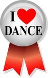 kocham tańczyć eps przycisk Obraz Stock
