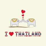 Kocham Thailand5 ilustracja wektor
