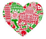 Kocham Włochy ilustracji