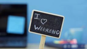 Kocham weekend zdjęcie royalty free