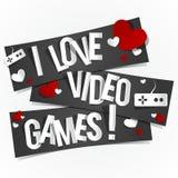 Kocham Wideo gry Obraz Royalty Free