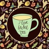 Kocham ziołowej herbaty Obrazy Stock