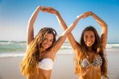 Kochamy plażę zdjęcia stock