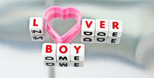 Kochanek chłopiec Zdjęcia Stock