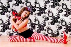 kochanek czerwone buty Fotografia Stock