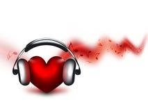kochanek muzyka Zdjęcie Stock
