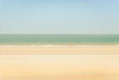 Kochanek na plaży Obrazy Royalty Free