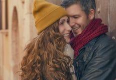 Kochanek podróż na valentine wygłupów miejsca Obrazy Stock