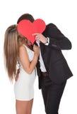 Kochanek pokazuje afekcję dla damy Zdjęcia Royalty Free