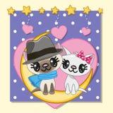 Kochanków koty royalty ilustracja