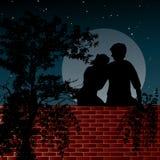 kochanków noc scena dwa Fotografia Royalty Free