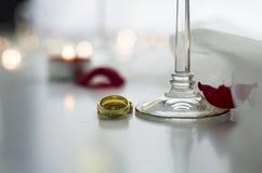 Kochanków pierścionki Zdjęcia Stock