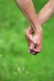 Kochankowie dwa ręki Obraz Royalty Free