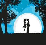 Kochankowie W blasku księżyca Obraz Royalty Free