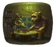 Kochany gościa niedźwiedź ilustracja wektor