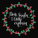 Kochany Santa mogę wyjaśniać Bożenarodzeniowy wakacyjny wektorowy druk Zdjęcie Royalty Free