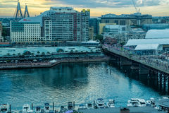 Kochany schronienie Sydney Australia przy zmierzchem Zdjęcia Royalty Free