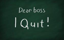 Kochany szef, rezygnuję! zdjęcie stock