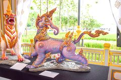 Kochasri, leeuw-Elephen in Mythische Schepselen van Aziatische legen royalty-vrije stock fotografie