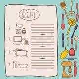 Kochbuchdesign Stockbild