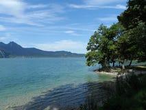 Kochelsee lata widok na jeziorze zdjęcie stock