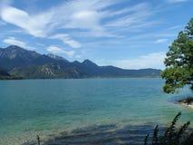 Kochelsee lata widok na jeziorze zdjęcie royalty free